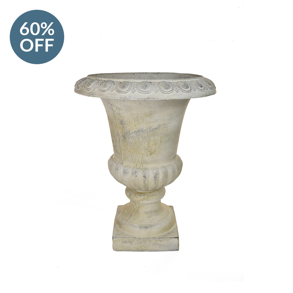 V-Pot Urn Weather White R 35x35x46cm