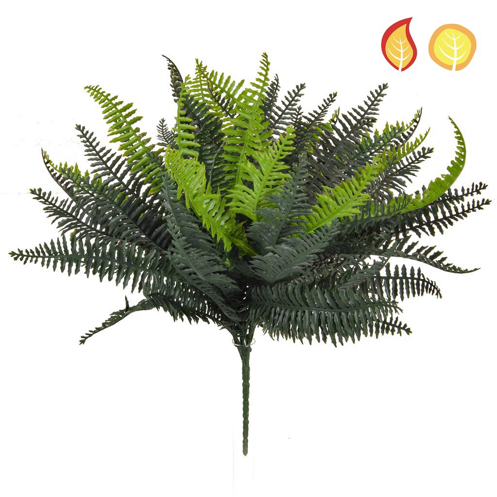 Plants Boston Bush Fern Grn 37.5cm FR UV