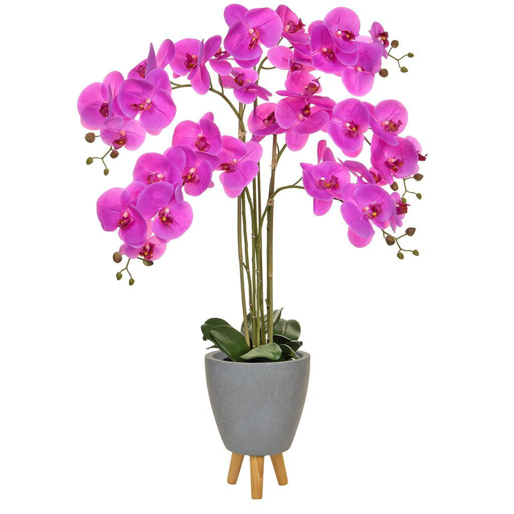 AN-Orchid Phal Pink in Naples Pot 110cm
