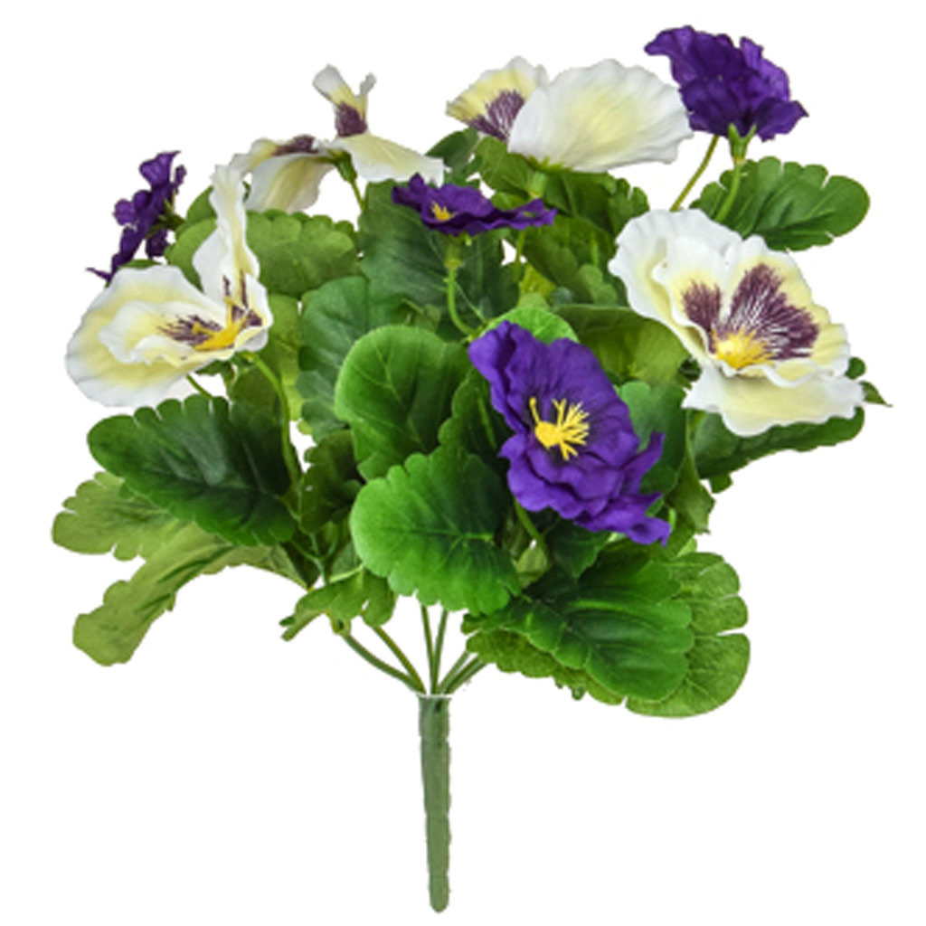 Plants Flowering Pansy Mix Bush P/W 28cm