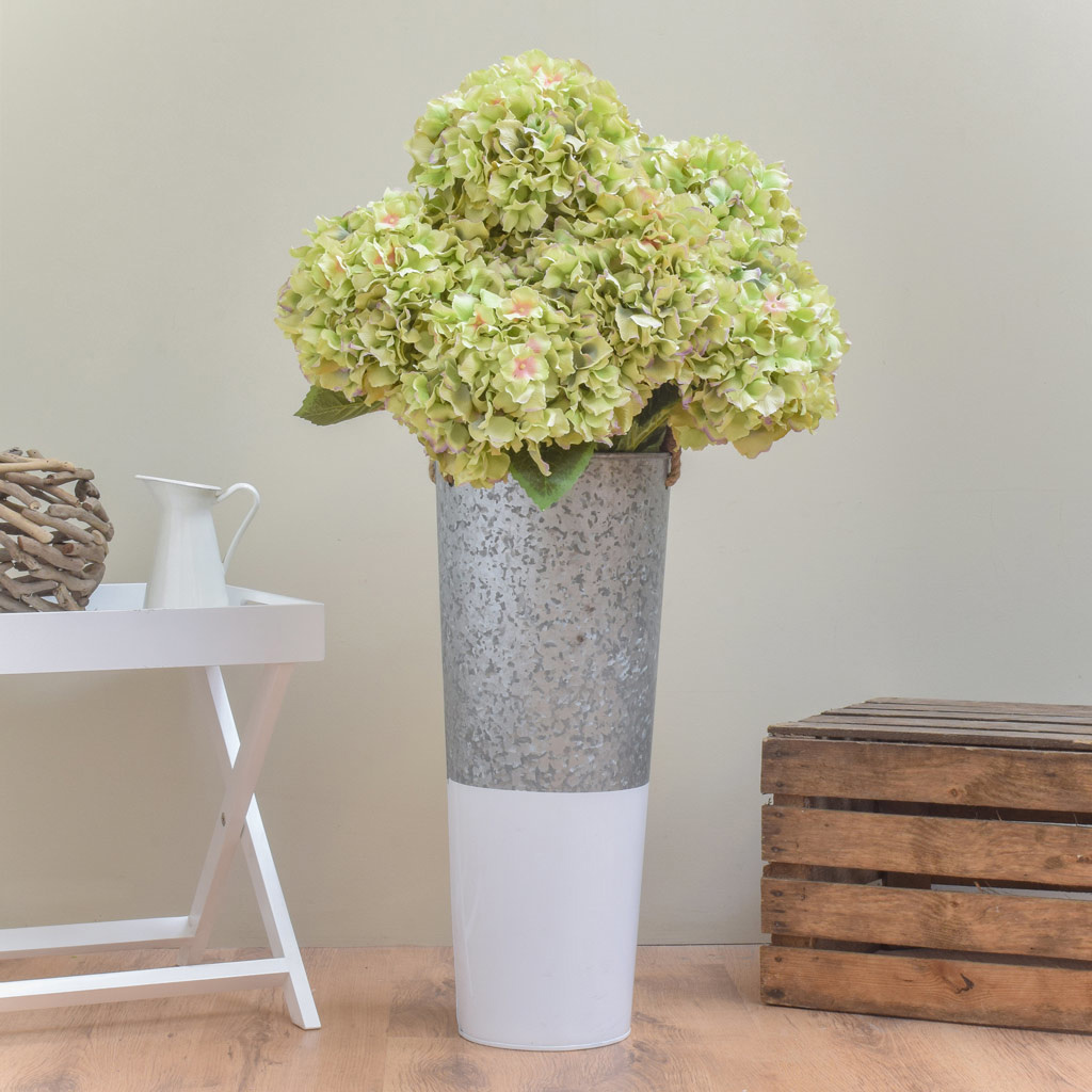 SF Hydrangea Large Green/Pink HY 101cm