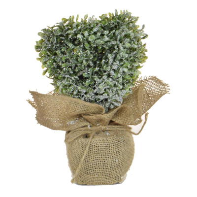 CH-Topiary Frosted Heart w/light 26cm