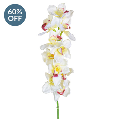 SF Orchid Cymbidium Cream S Medium 90cm