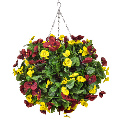 HB Pansy C Large Ball Red Yellow 40cm