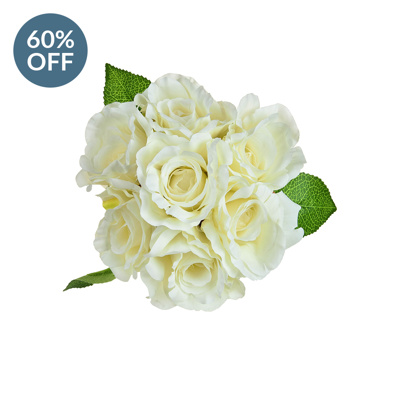 SF Bouquet Rose white W 30cm