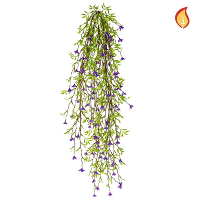 I & T Base Green Leaf Purple Flower 64cm FR