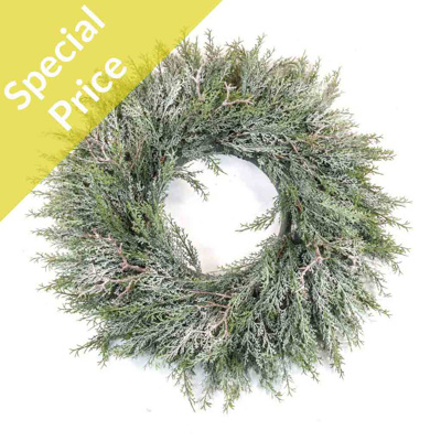 S-Pine Wreath with frost 60cm