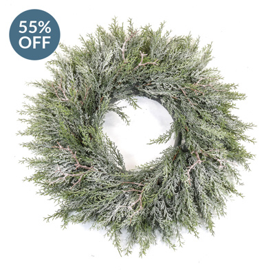 S-Pine Wreath with frost 80cm