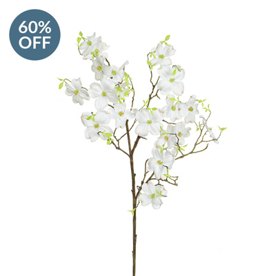 SF Dogwood Spray White XY 125cm