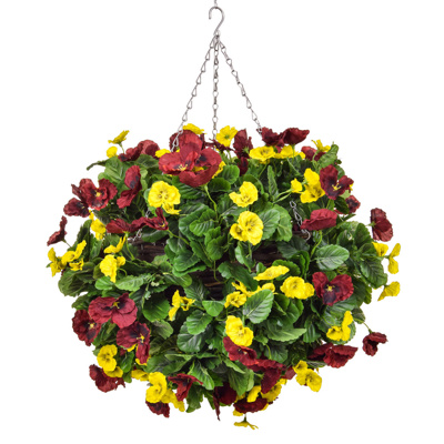 HB-Pansy Ball Red Yellow 25cm
