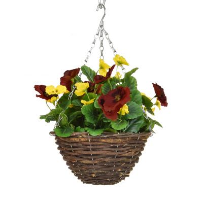 HB-Pansy Basket Red Yellow 20cm