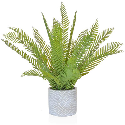 PP Fern Green in Grey Pot PI 46cm