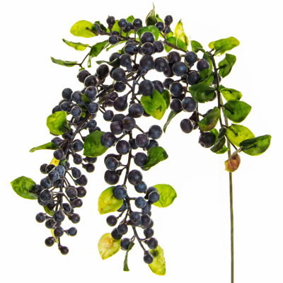 Foliage Hanging Berry Spray Purp GB 55cm