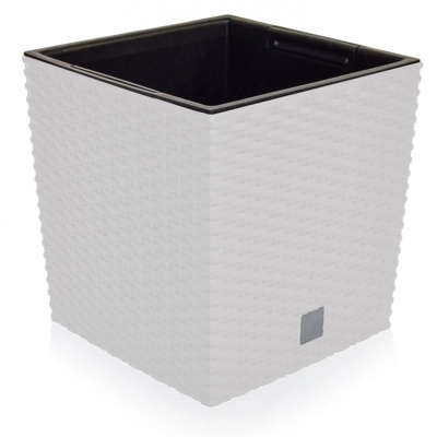V-Pot Rato Low square white P 26x26x26cm
