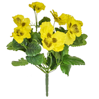 Plants Flowering Pansy Bush Yellow 28cm