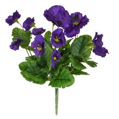 Plants Flowering Pansy Bush Purple 28cm