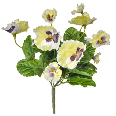 Plants Flowering Pansy Bush White 28cm