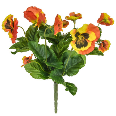Plants Flowering Pansy Bush Orange 28cm